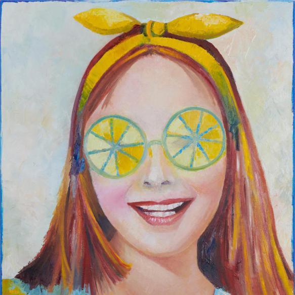 Girl with Lemon Eyes